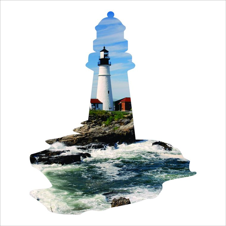Steel Imagery - Lighthouse Silhouette