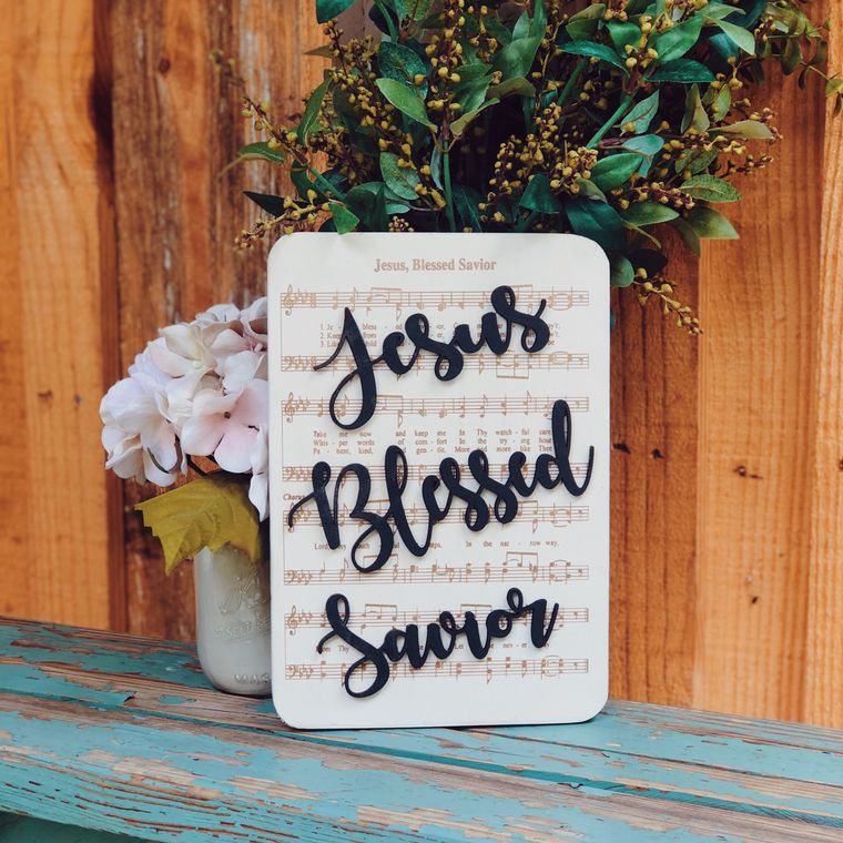 Jesus Blessed Savior - Unframed