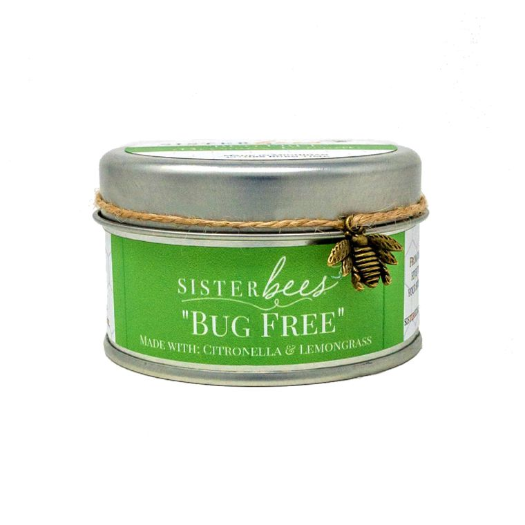 Bug Free Beeswax Candle (Featuring Citronella & Lemongrass))