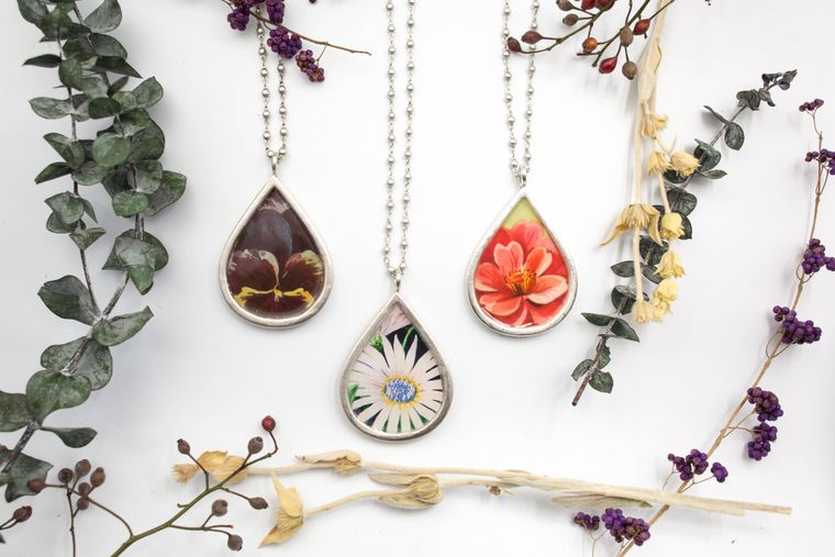Colossal Teardrop Necklace - botanicals