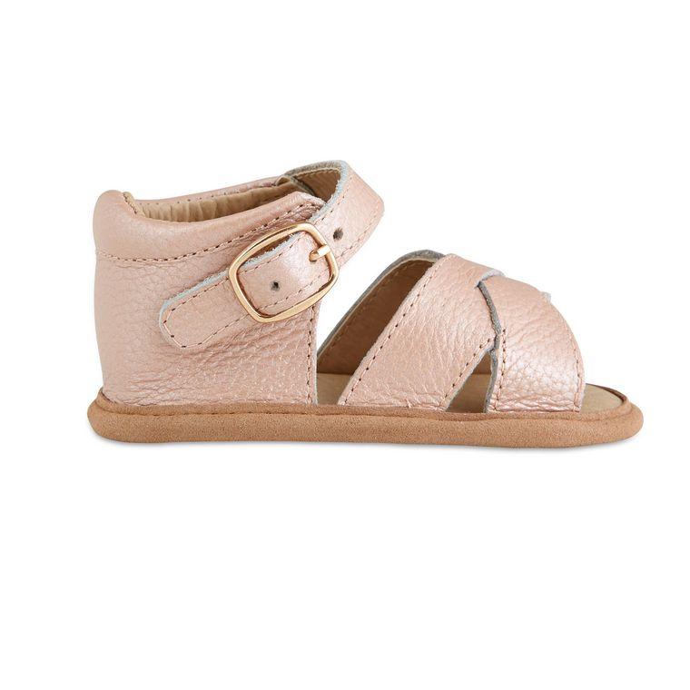 Blush Split-Soled Leather Baby Sandals
