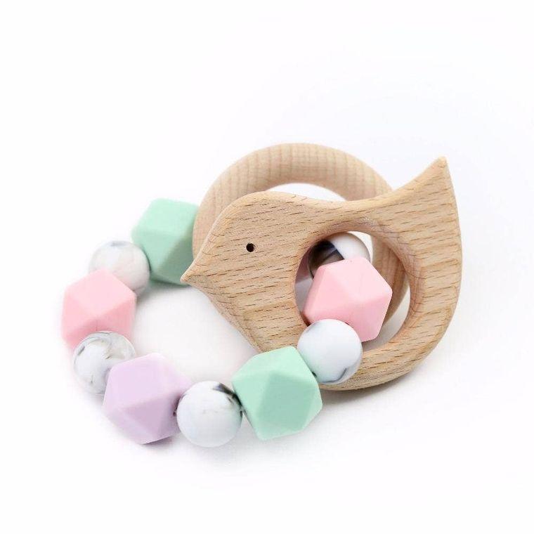 Babe Basics Baby Bird Teething Bracelet / Rattle