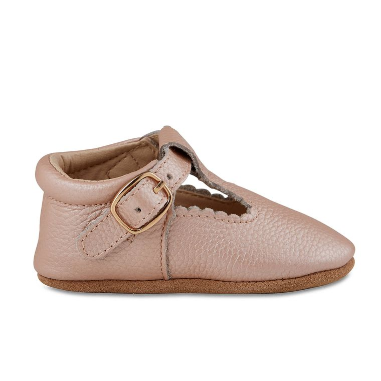 Blush Leather Soft-Soled Leather Baby Mary Janes
