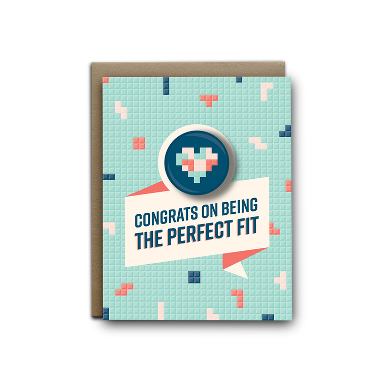 The Perfect Fit Wedding Magnet Greeting Card
