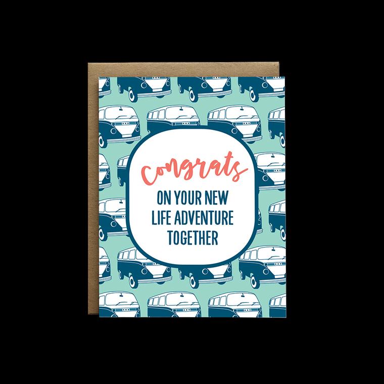 Marriage Life Adventure Wedding Greeting Card