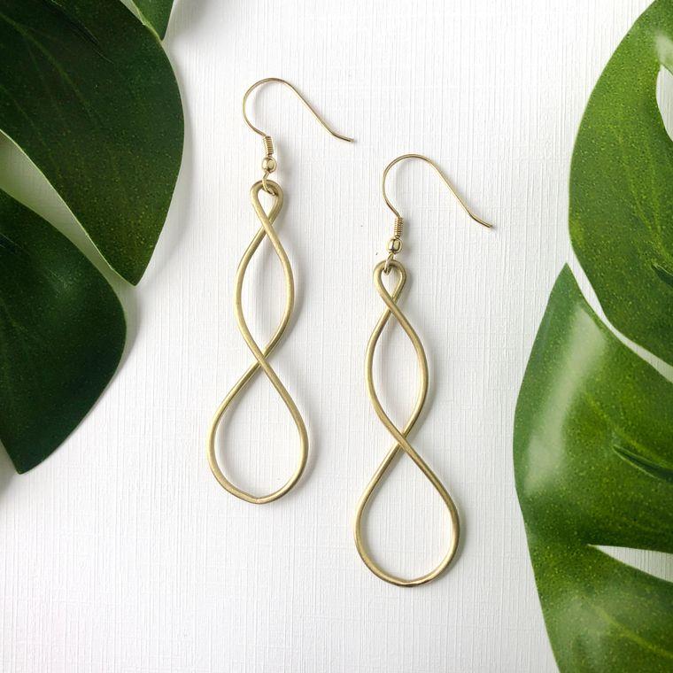 Double Helix Earrings - Gold