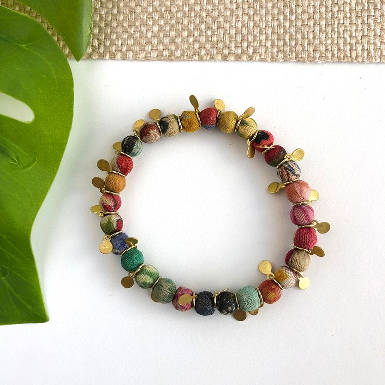 Kantha Charm Bracelet