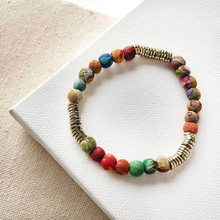 Kantha Paillete Bracelet