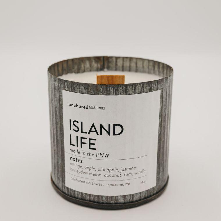 Rustic Vintage Soy Candle - Island Life (10oz)