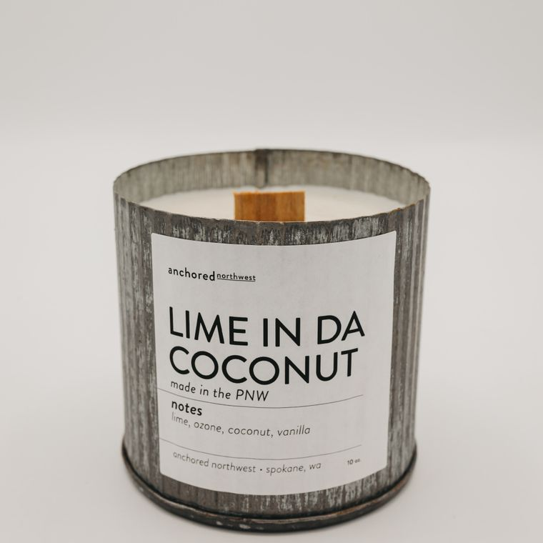 Rustic Vintage Soy Candle - Lime in da Coconut (10oz)