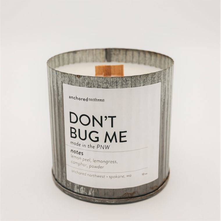 Don't Bug Me/Citronella - Rustic Vintage Wood Wick Candle