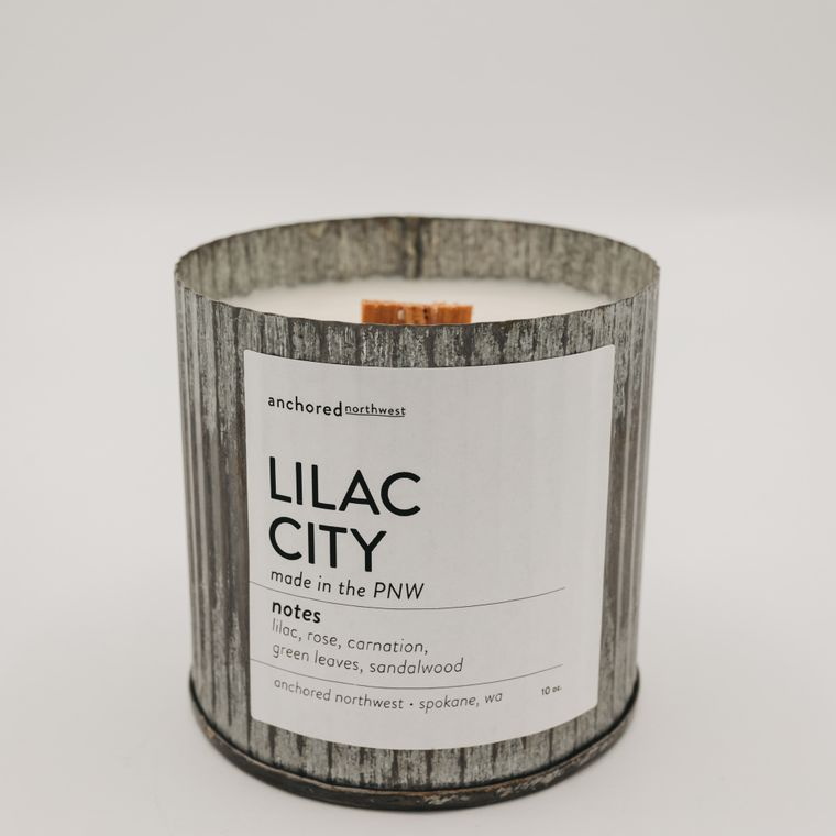 Rustic Vintage Soy Candle - Lilac City