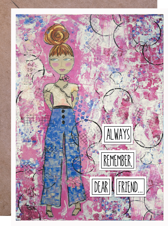 They're Just Trying to Figure Out How to be as Awesome As You  - Friend Card - Pre-Order - Avail to Ship 15.Oct