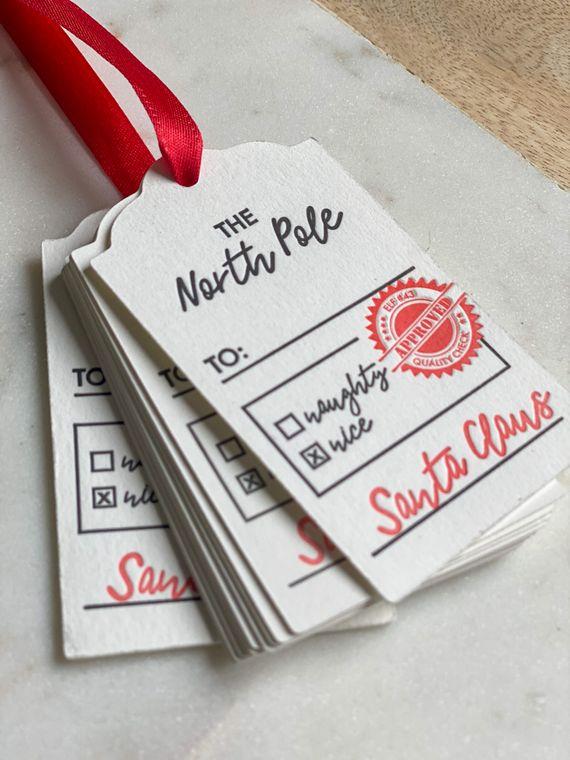 Holiday Gift Tags from Santa