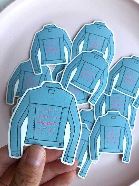 jean jacket sticker