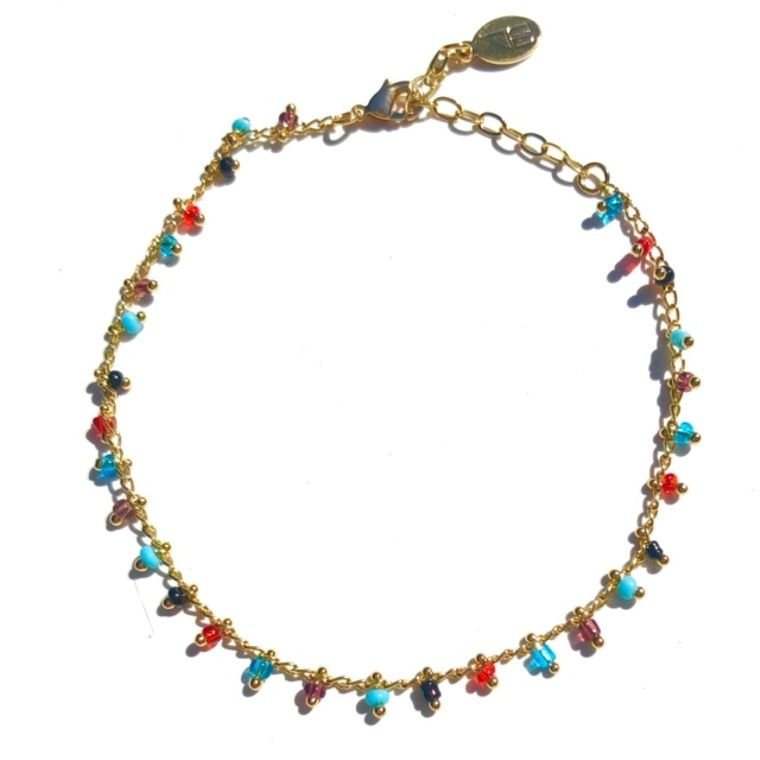 Multi Beaded Anklet