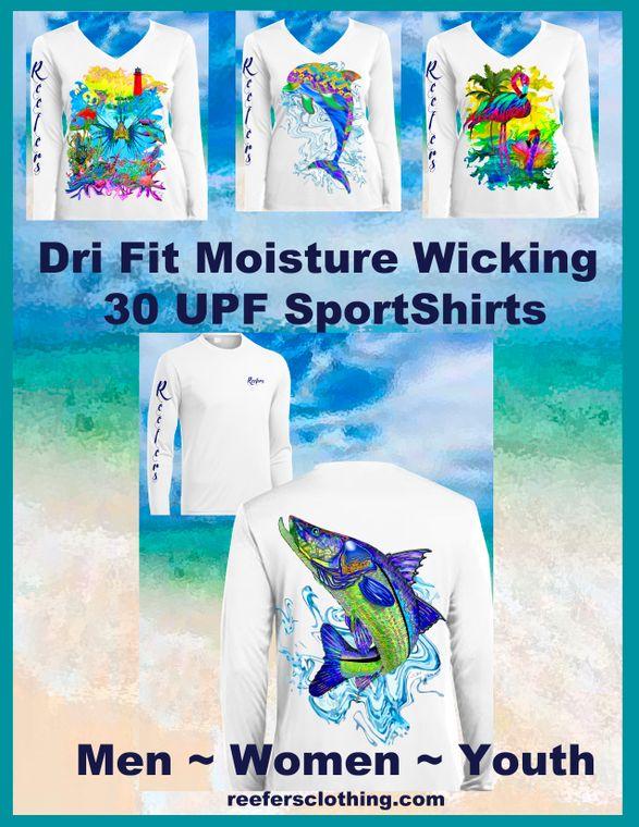 Dri Fit Moisture Wicking 30 UPF Sport Shirts
