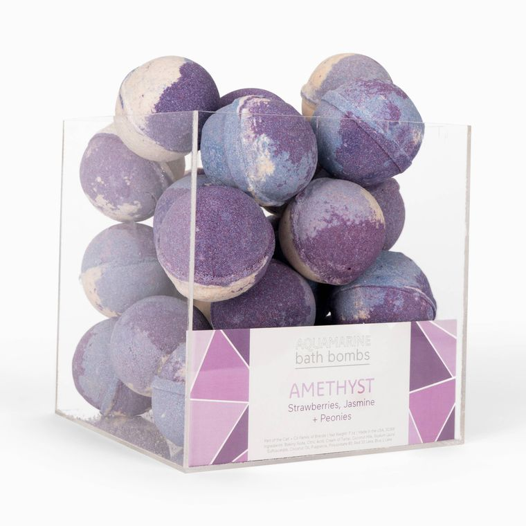 Amethyst Bath Bomb + Cube Display