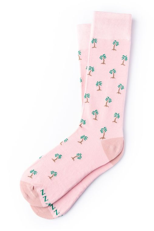 Permanent Vacay Sock by Alynn -  Pink Carded Cotton