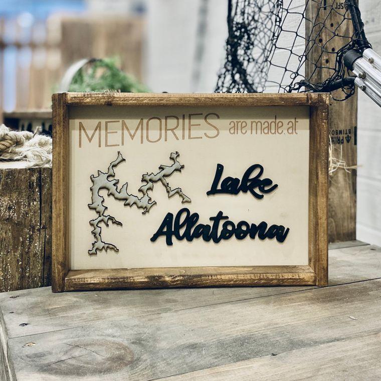 "14""x10"" Memories ""Any Lake"" Sign"