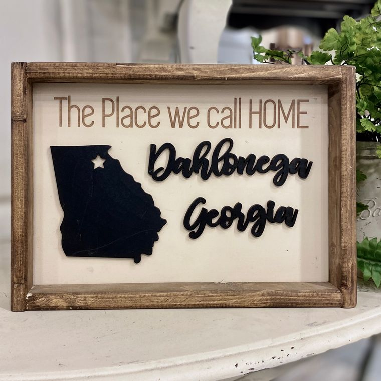 """14""""x10"""" The Place we call Home """"Any City"""" Sign"""