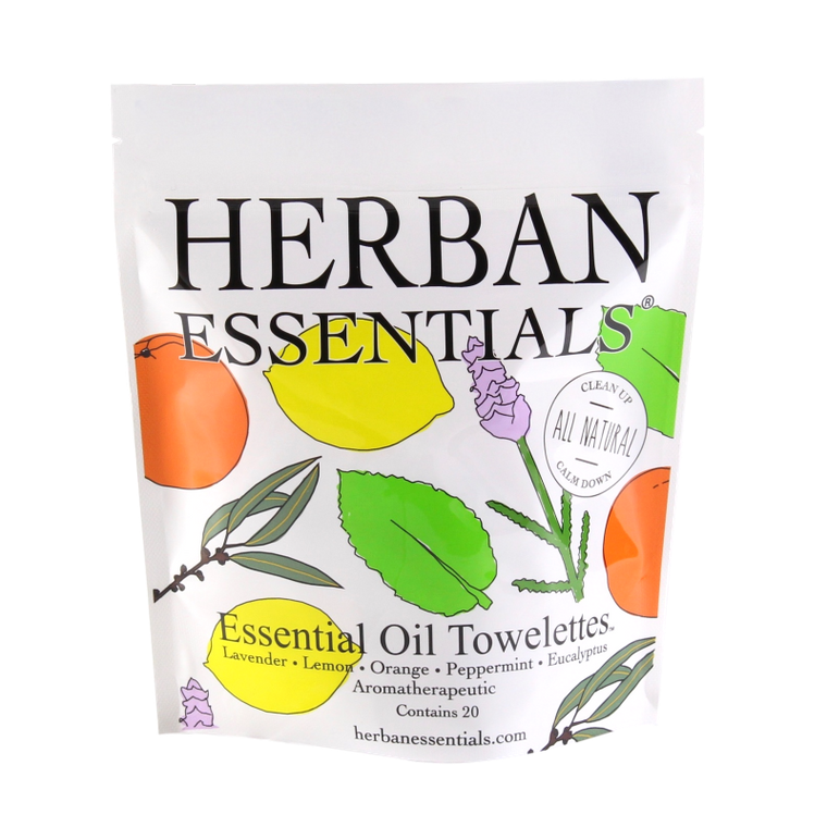 Herban Essentials Essential Oil Towelettes - Assorted