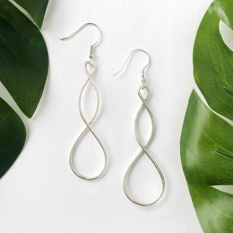 Double Helix Earrings - Silver