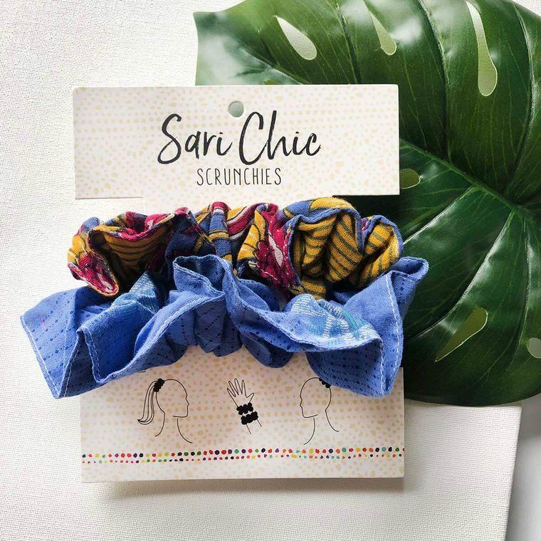 Sari Chic Scrunchies