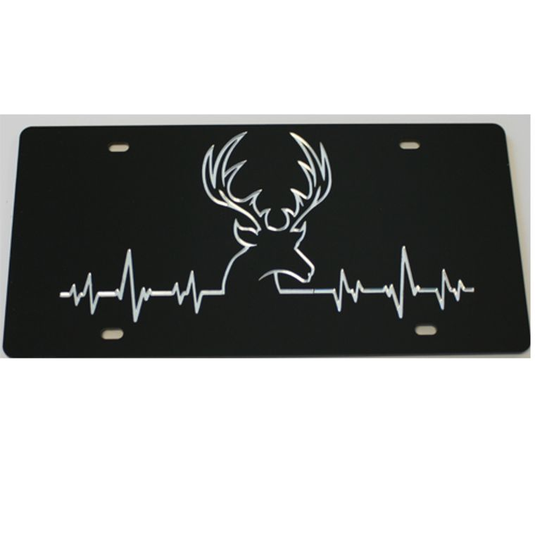 License Plate Buck Beat Acrylic Mirrored Car Tag
