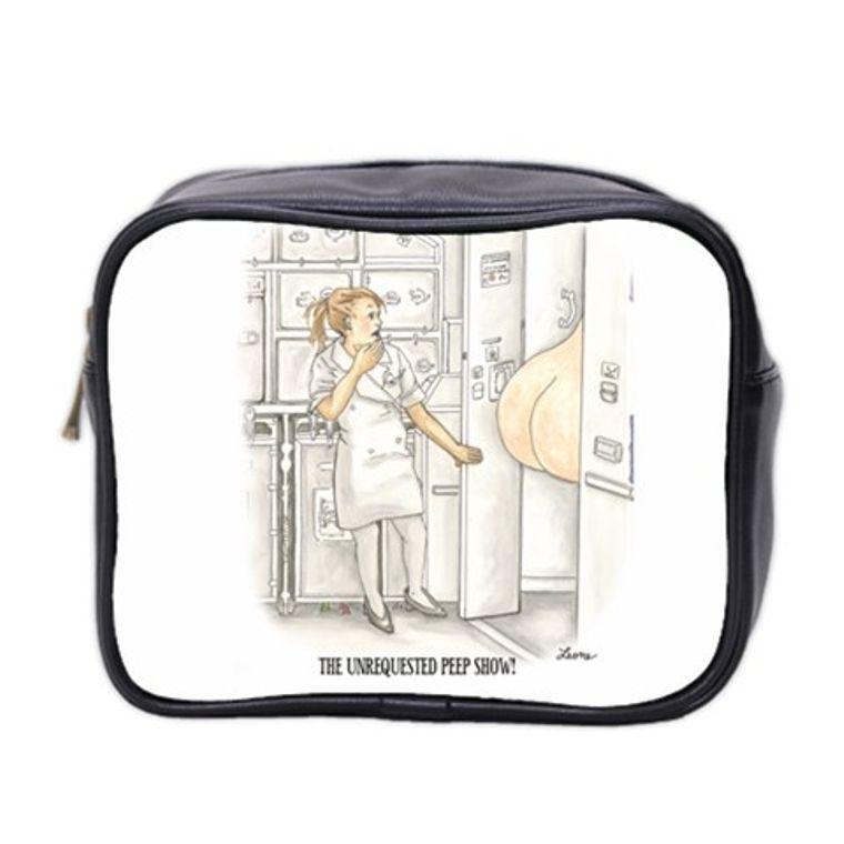 Illustrated Travel Accessory Zipper Bag