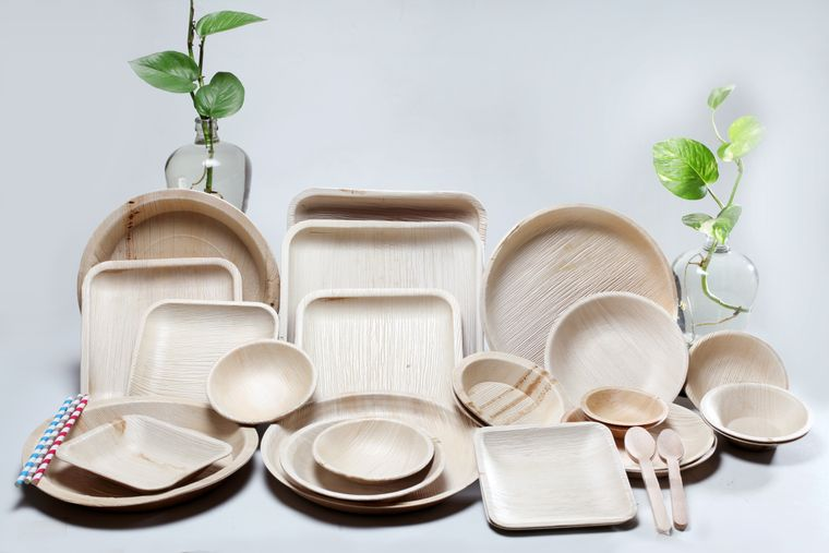 Organic Disposable Areca Palm leaf tableware