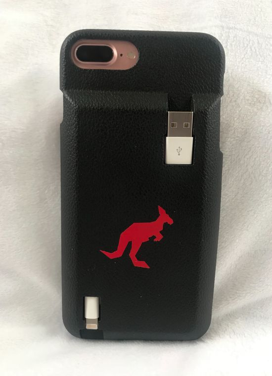 Cable Carrying iPhone Case by Red Roo Gear llc
