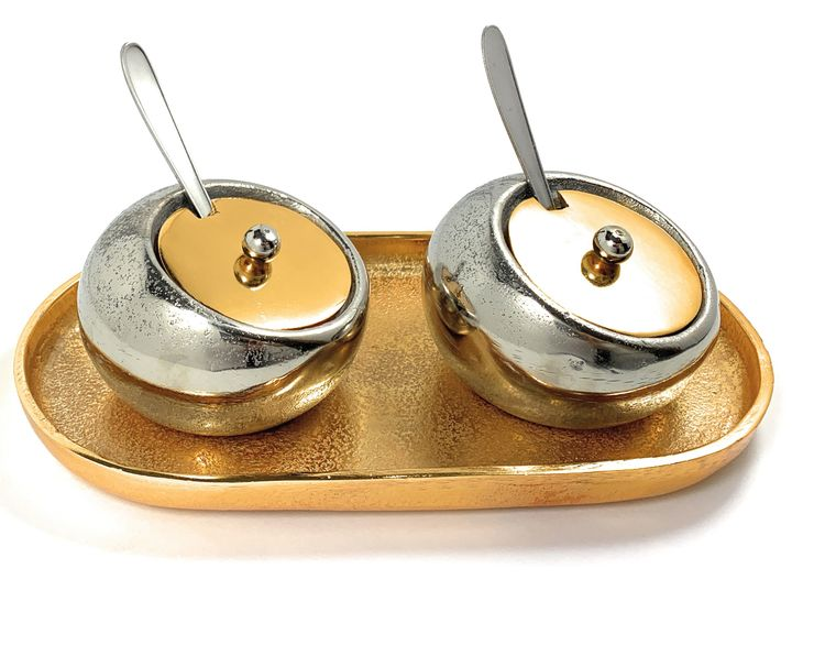 Condiments Pots with Spoons