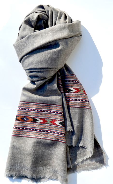 Grey Scarf and Wrap