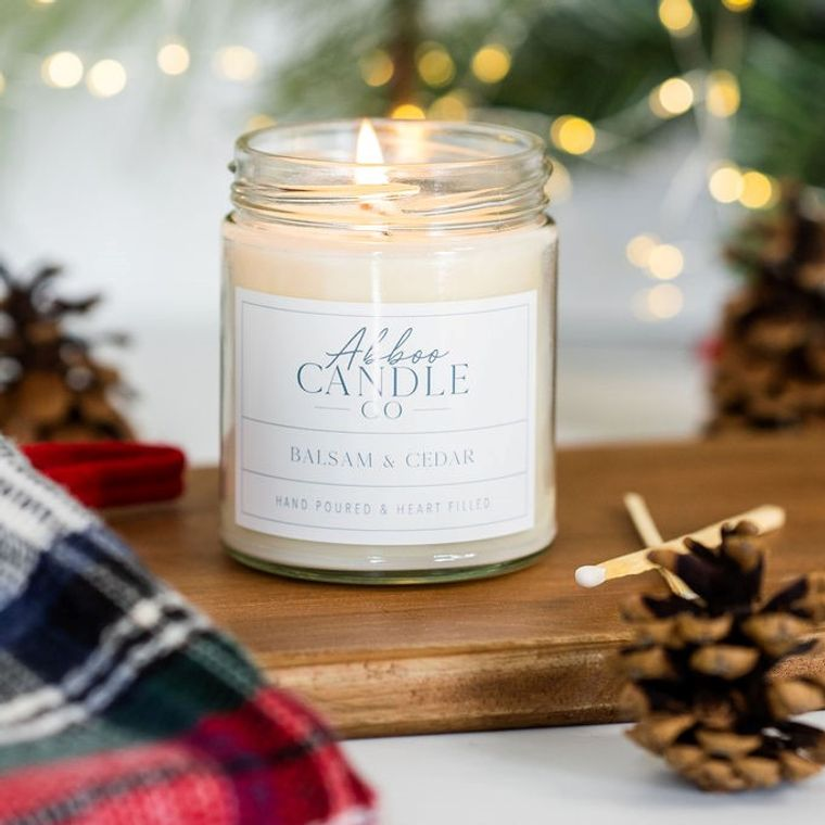 Balsam & Cedar Soy Candle by Abboo Candle Co
