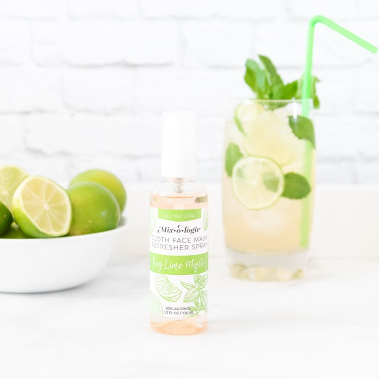 Face Mask Refresher Spray - Key Lime Mojito Scent - Pack of 4