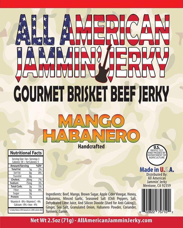 All American Jammin' Jerky - Mango Habanero