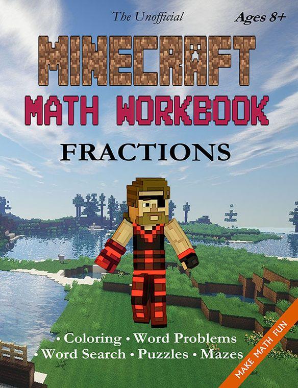Minecraft Math Workbook Fractions