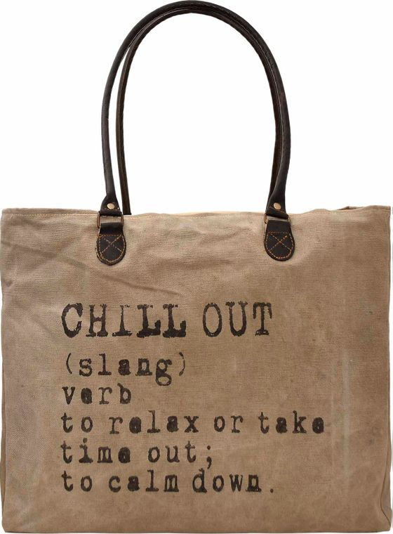 Chill Out Recycled Military Tent Market Tote
