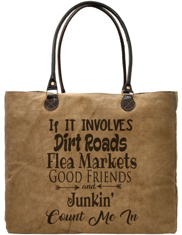 Good Friends Junkin Recycled Military Tent Market Tote
