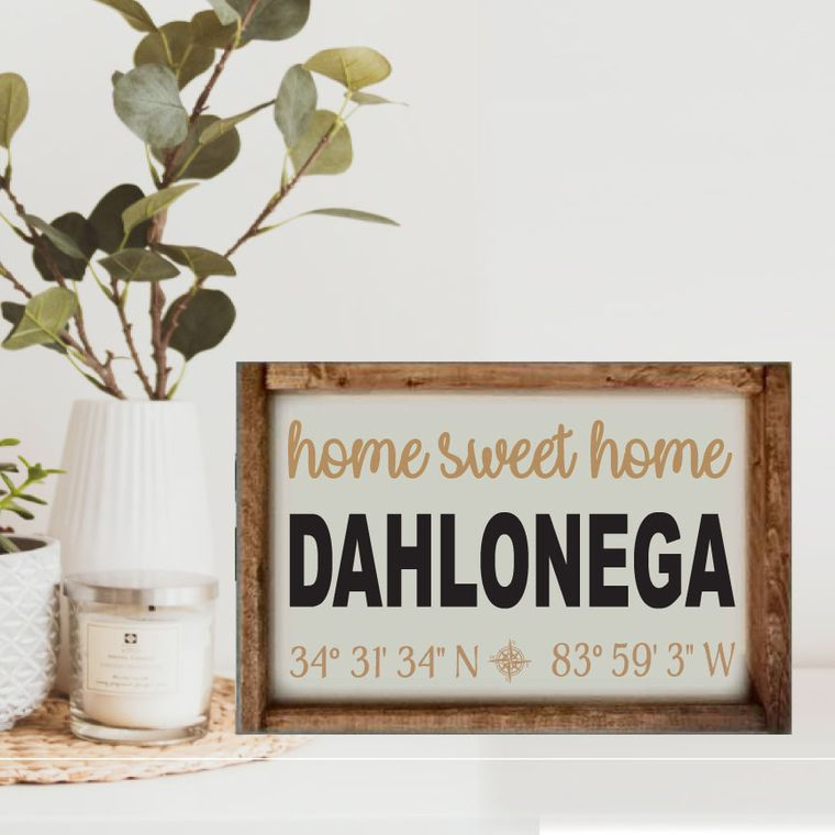 "14""x10"" Home Sweet Home ""Any City"" Sign"