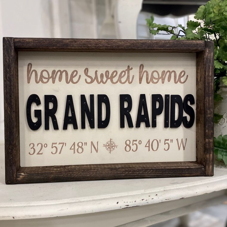 """14""""x10"""" Home Sweet Home """"Any City"""" Sign"""