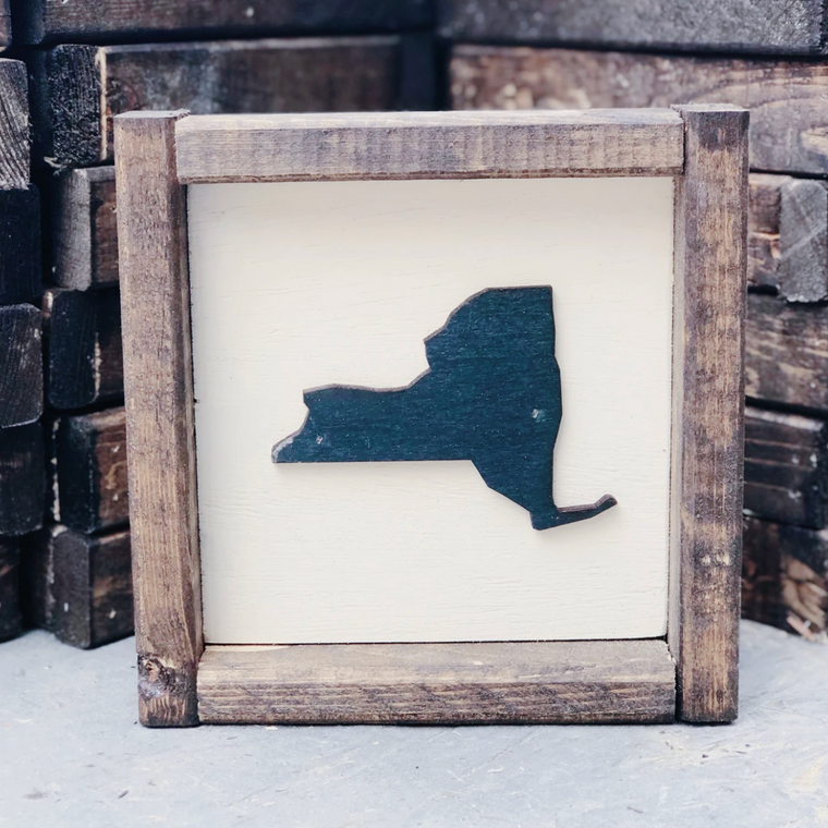 "7 x 7  ""Any State"" Framed Sign"
