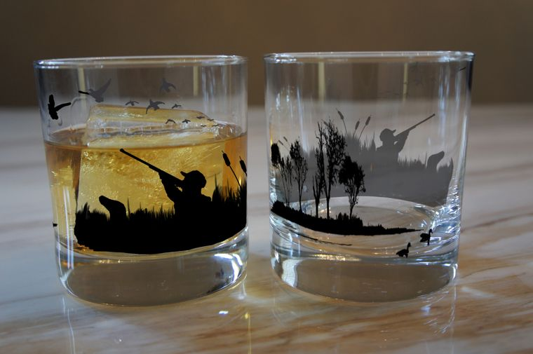Waterfowl hunting Whiskey Rocks Glasses