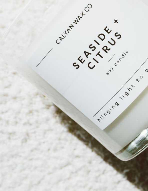 Glass Tumbler Soy Candle - Seaside / Citrus