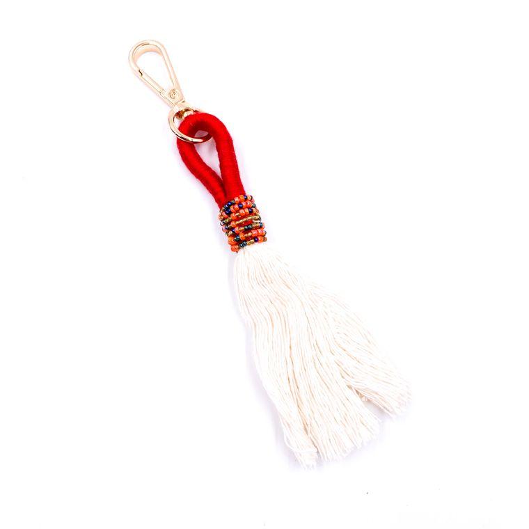 Handbag/Keychain Tassel - Tahiti (Red)