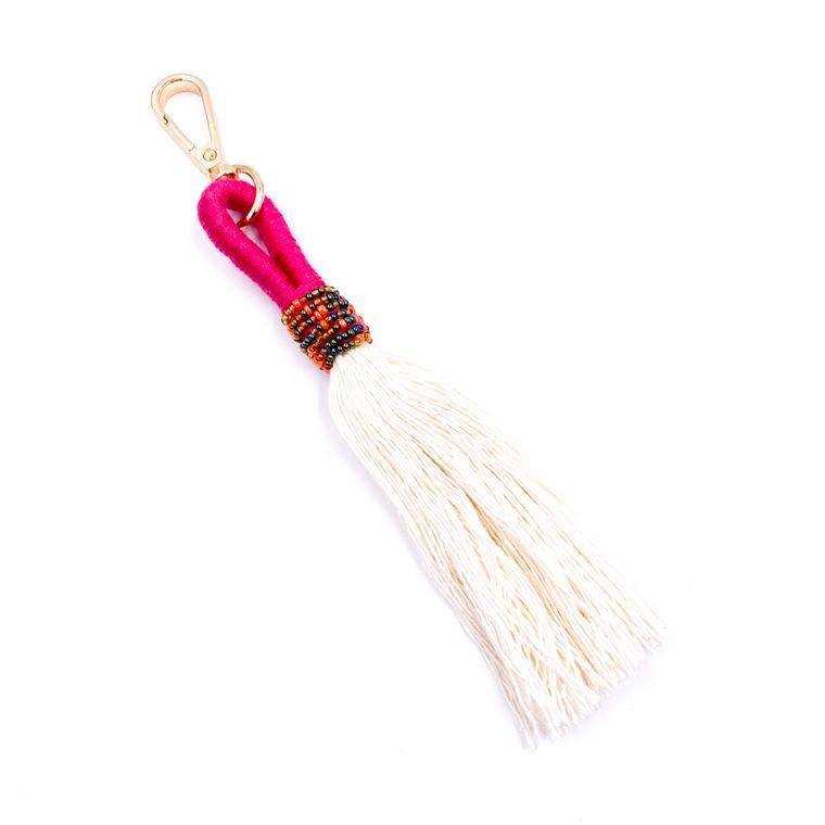 Handbag/Keychain Tassel - Tahiti (Fuchsia)