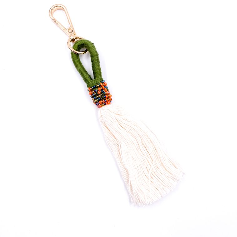 Handbag/Keychain Tassel - Tahiti (Olive)