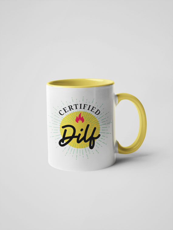 Certified Dilf Coffee Mug - Adult Humor