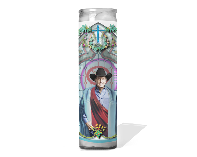 George Strait Celebrity Prayer Candle